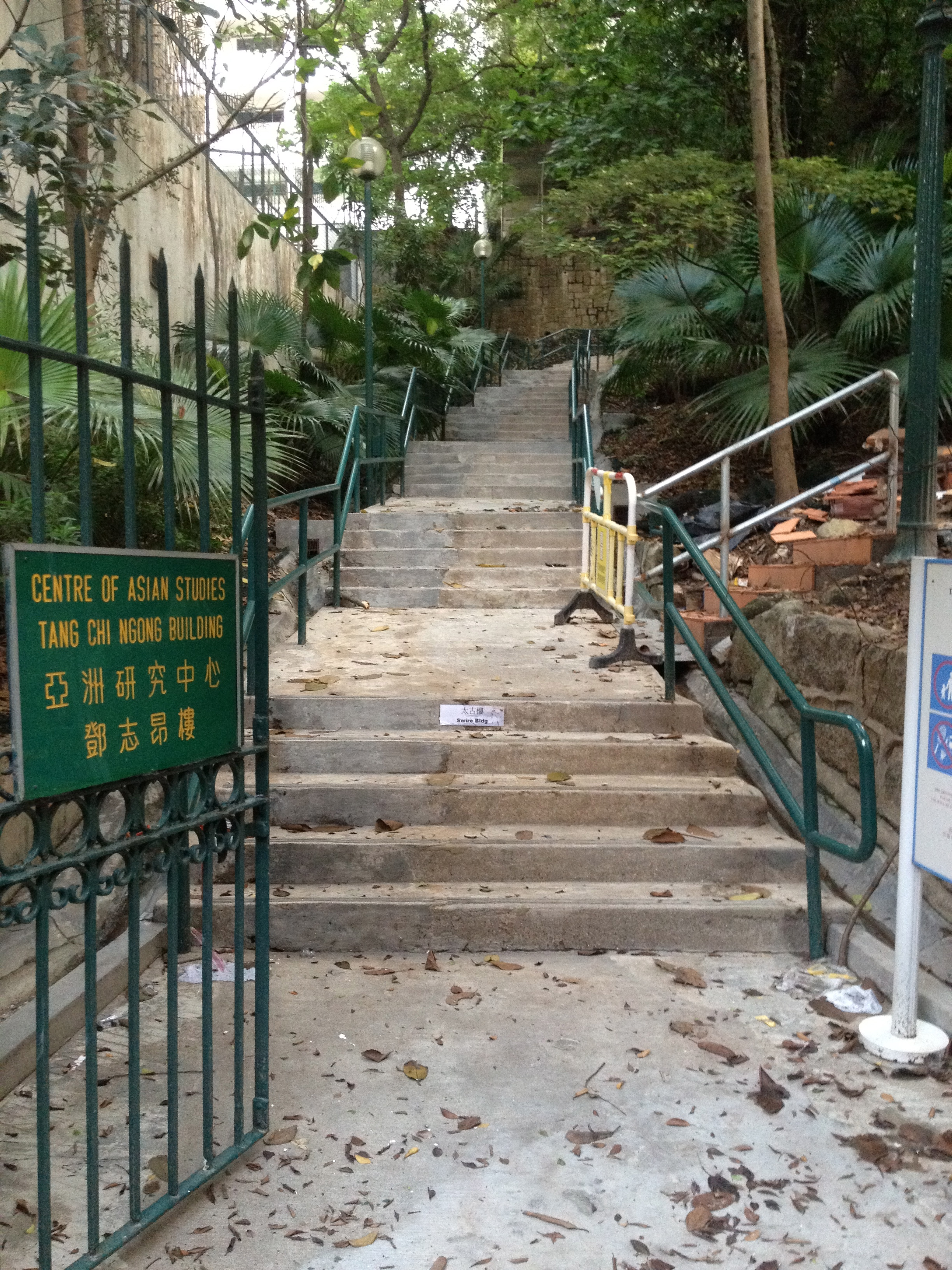 Centre of Asian Studies stairs, Bonham Road